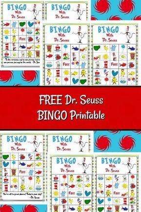 free dr seuss bingo printable family engagement dr seuss rh pinterest com