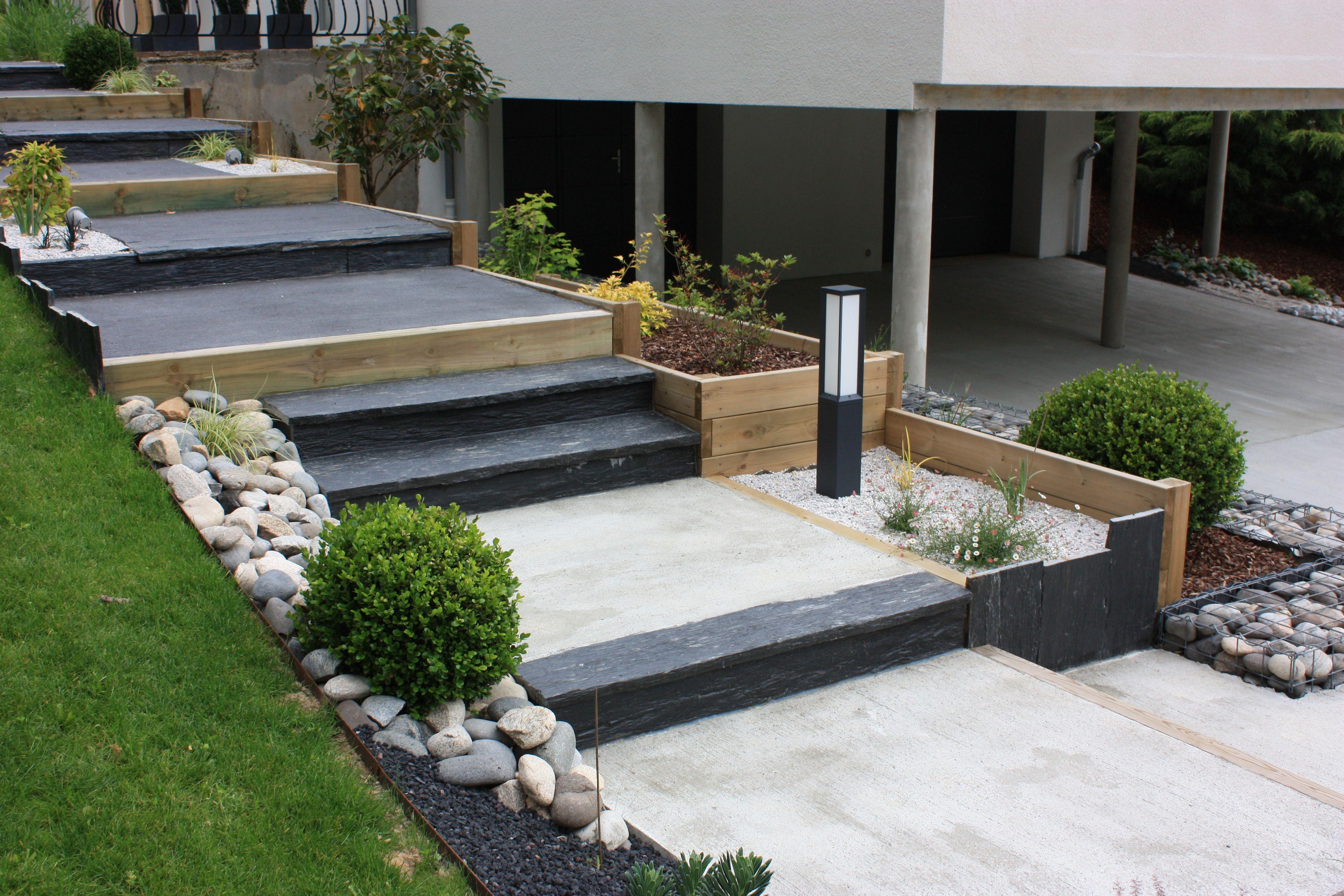 Rebeyrolcreateurdejardins Amenagementjardin Amenagementescalier Escalier Escaliermoderne Escaliercon Amenagement Jardin Escalier De Jardin Marches Jardin