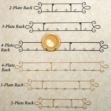 Augusta Horizontal Metal Wall Plate Rack  sc 1 st  Pinterest & Augusta Horizontal Petite Wall Plate Rack | Plate racks Metal walls ...