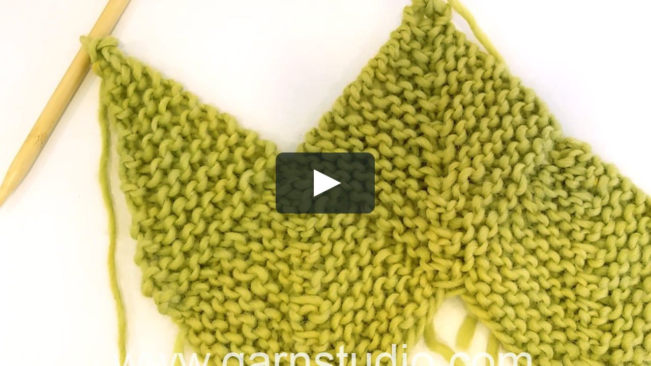 How to knit a square