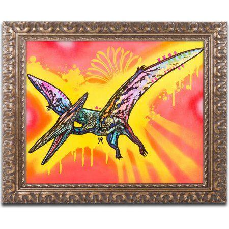 Trademark Fine Art Pterodactyl Canvas Art by Dean Russo, Gold Ornate ...