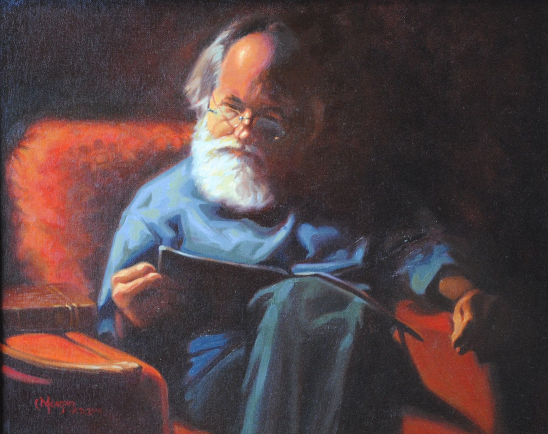 """Daddy's Chair, 16""""x 20"""" oil by Cecile W. Morgan"""