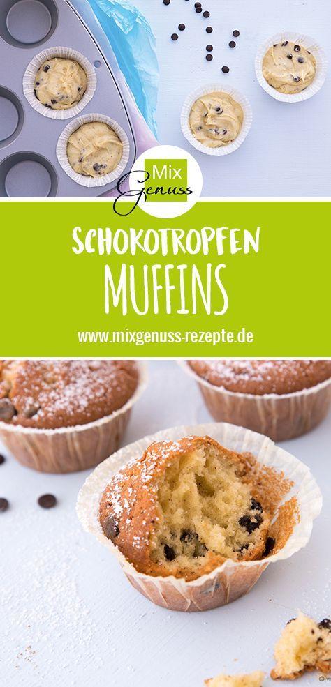 Schokotropfen Muffins Mixgenuss Blog Essen Trinken In 2018