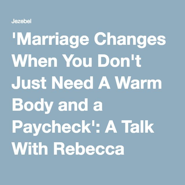 'Marriage Changes When You Don't Just Need A Warm Body and a Paycheck': A Talk With Rebecca Traister