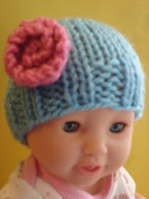 Free Knitting Pattern...Baby Doll Hats! #dollhats