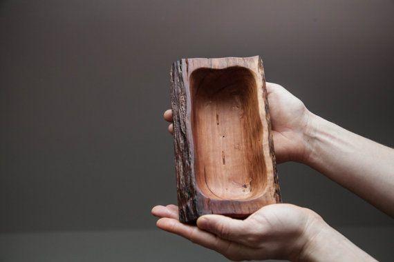 decorative rectangular bowl apple wooden bowl by BobolinkWoodBest