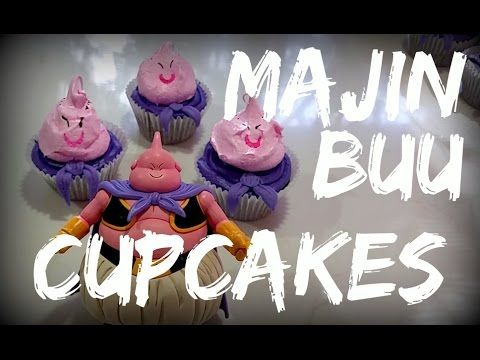 Dragon Ball Z Majin Buu Cupcakes Youtube Cupcake Youtube Party Desserts Dark Chocolate Cupcakes