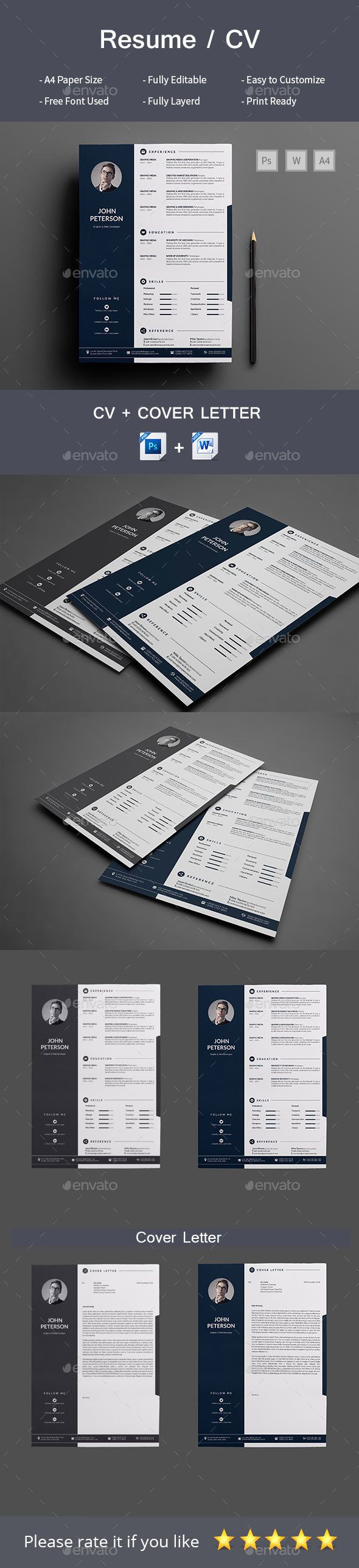 Cv And Resume Templates%0A Resume CoverLetter