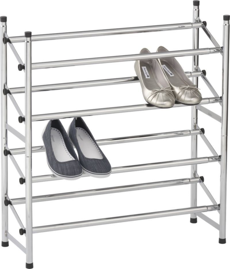 Expandable Shoe Rack Set Of Two In Closet Crate And Barrel Shoe Rack Closet Crate And Barrel Shoe Rack