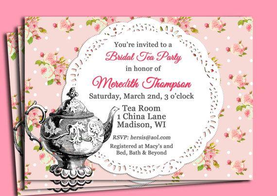 Vintage Tea Party Invitation Printable
