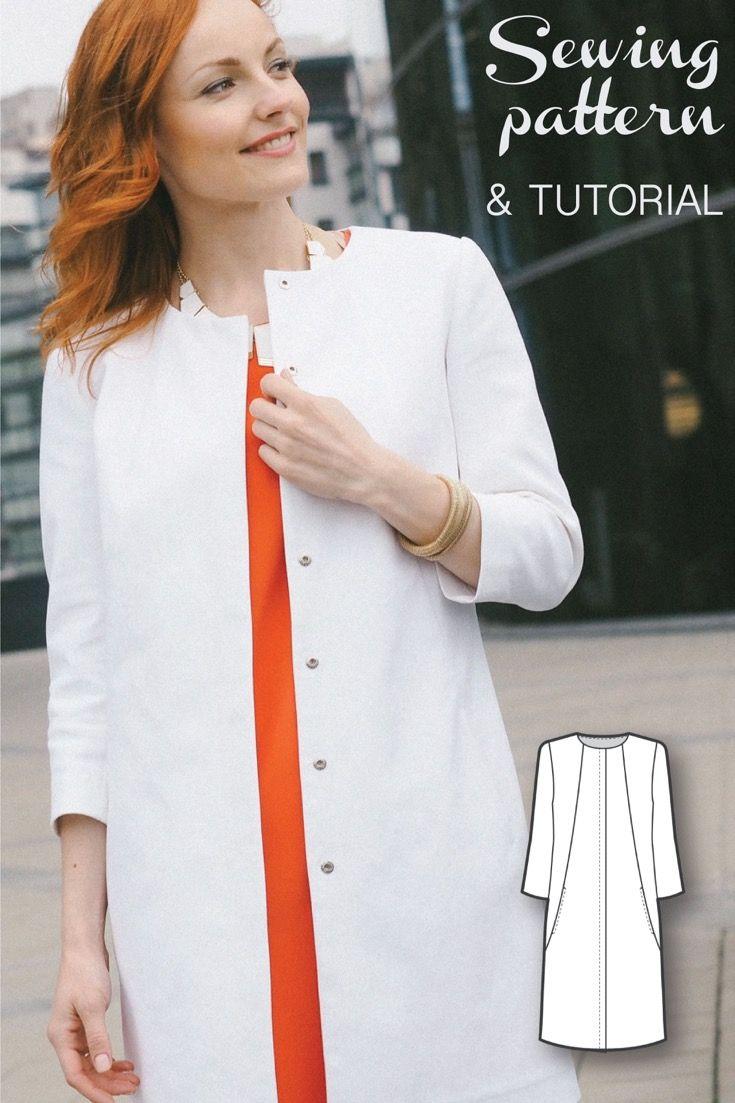 Modern dressmaker buttons - Womens Sewing Patterns Sewing Tutorials Coat Patterns Jacket Coat Sewing Patterns Clothing Patterns Modern Sewing Patterns