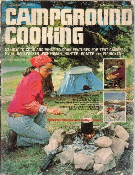Campground Cooking Retro Camping Tent Campers Camping
