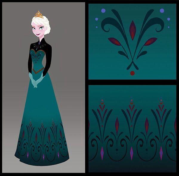 Elsa's coronation dress designs