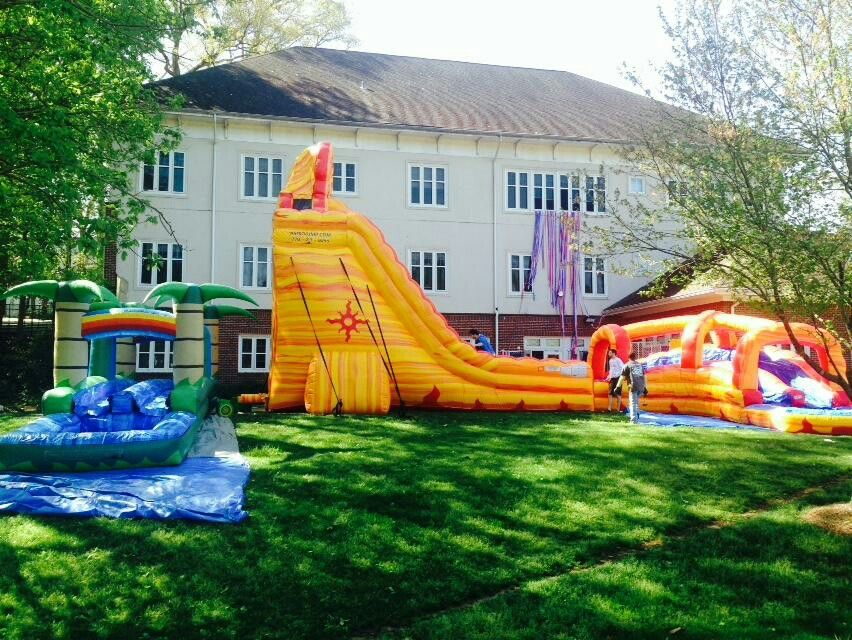27ft lava twist inflatable waterslide rentals from astro