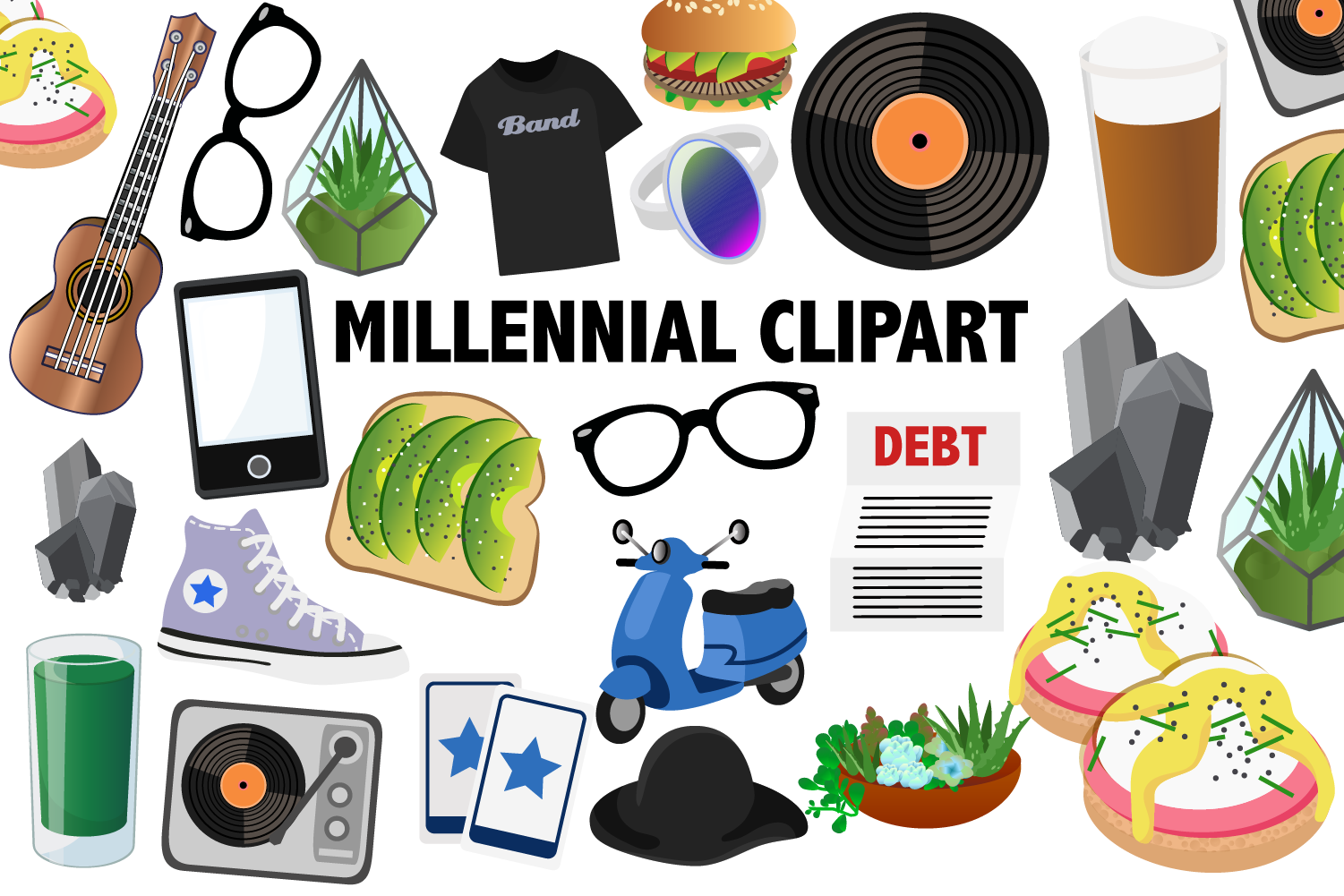 Millennial Clipart (Graphic) by Mine Eyes Design Clip