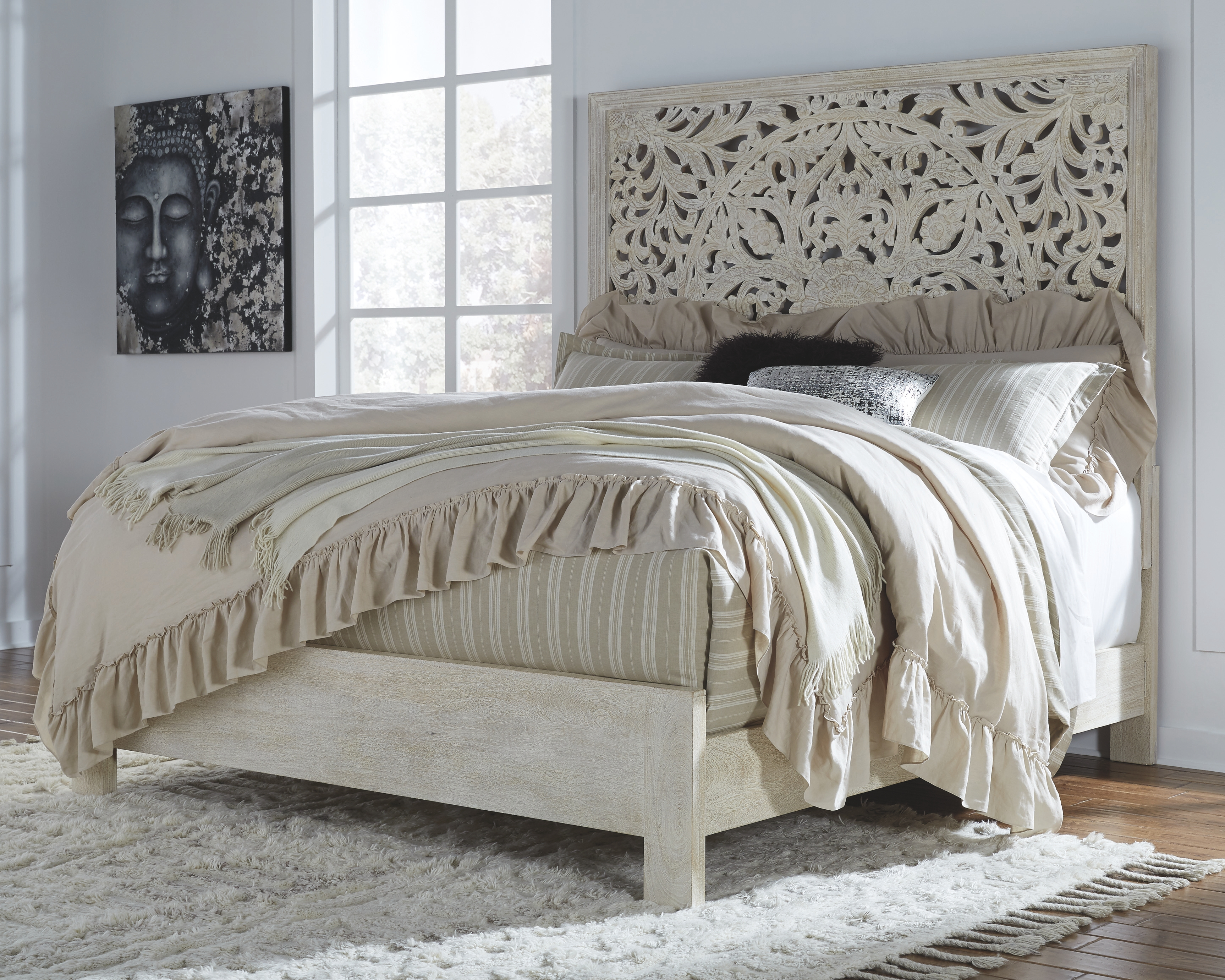 bantori king panel bed white products carved beds panel bed bed rh in pinterest com