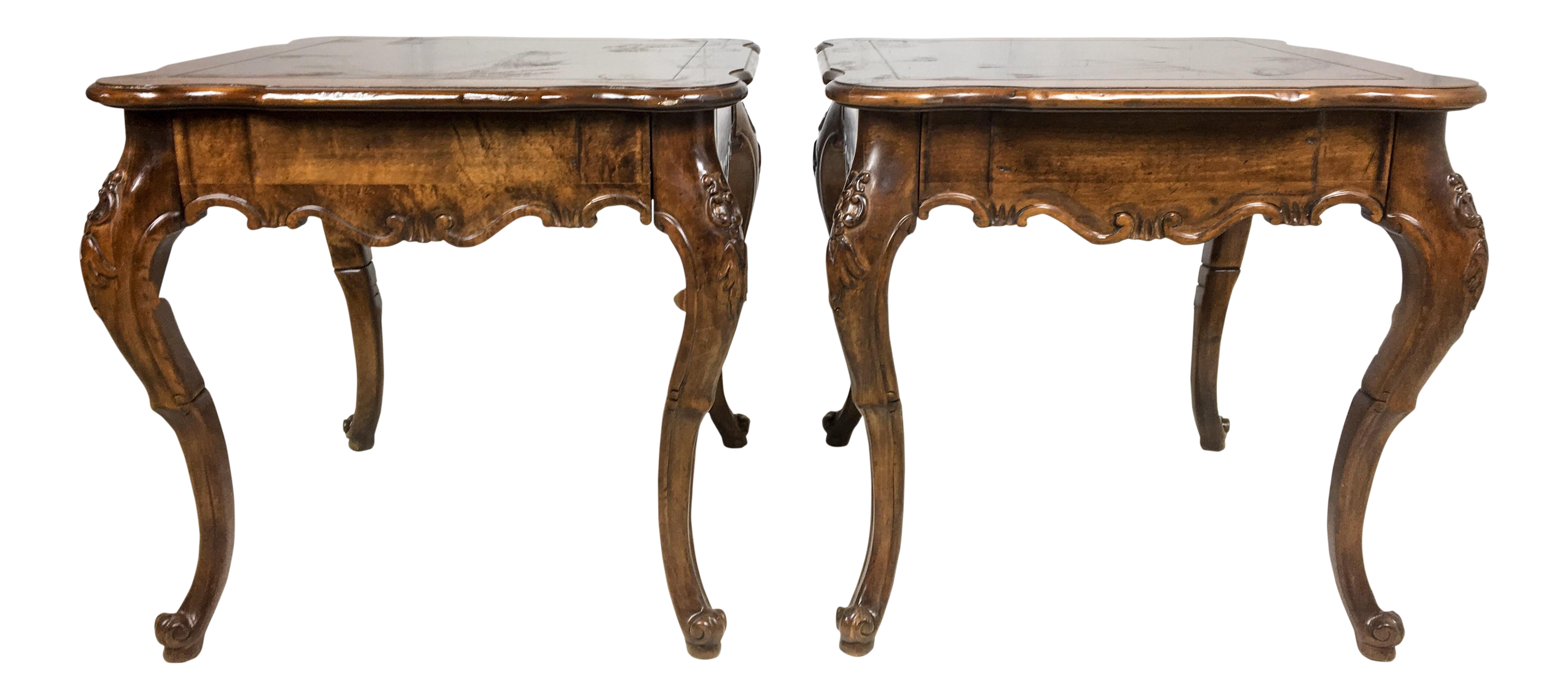 side com on of pin baker tables french pair and with drawers style chairish