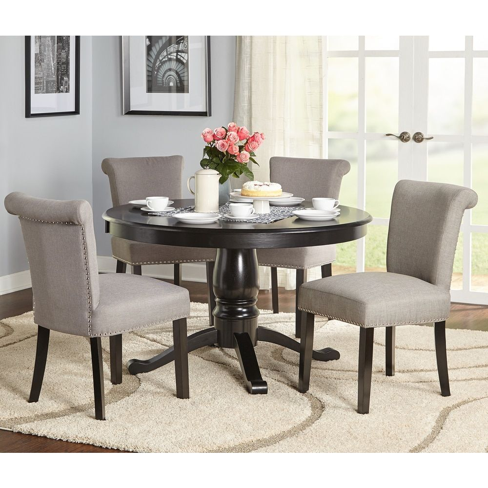 simple living 5 piece adeline pedestal dining set our new home in rh pinterest com
