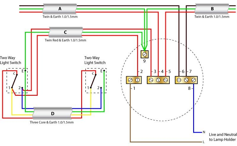 Light Wiring Diagram 2 Way Switch:  Home ,Design