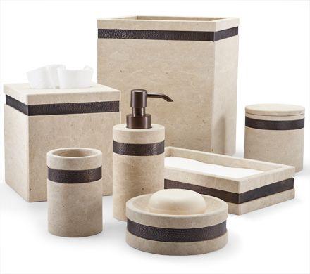 Rocco Rustic Stone Bath Accessories By Labrazel 180 00 Each