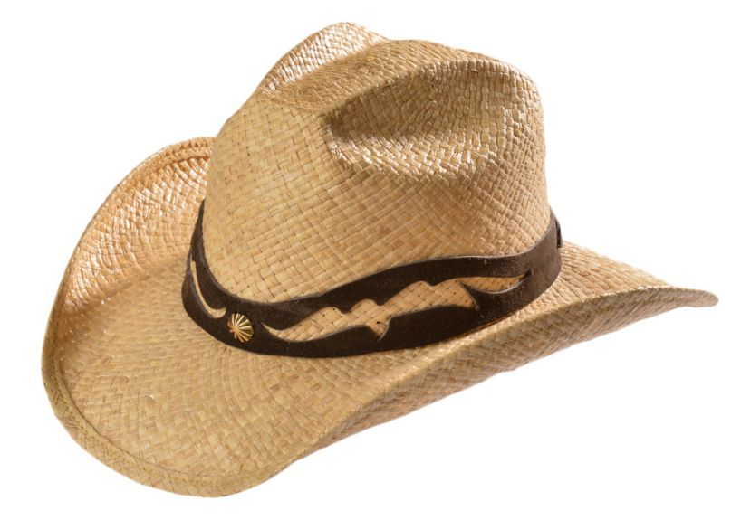 2a588cd95f0 Shady Brady Crushable Straw with Leather Cutout Band   Concho Cowboy Hat  available at  Sheplers