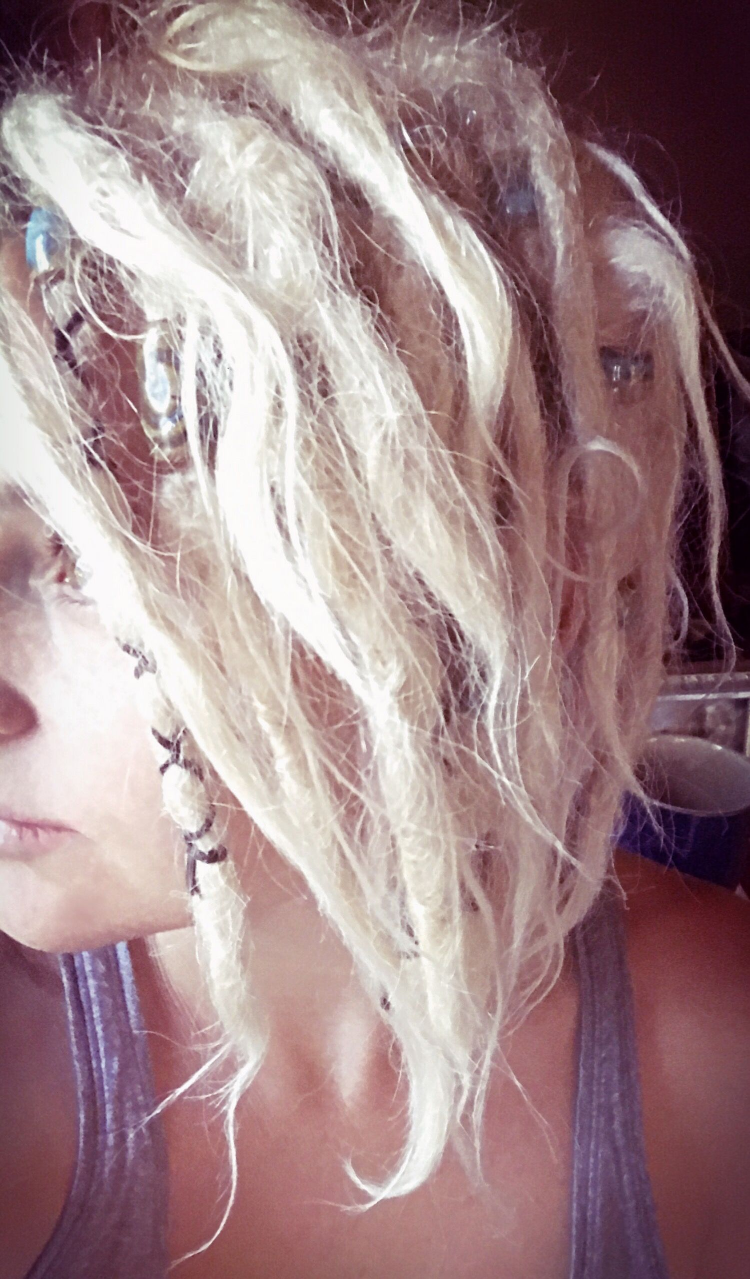 My Blonde Dreads Hair Pinterest Blonde dreads Dreads and