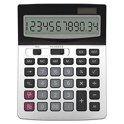 8 Digit Desk Calculator Large Buttons White Multi Functional Desk calculator