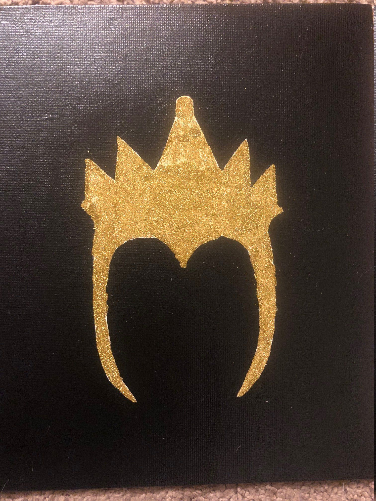 Evil queen glitter painting evilqueen disneyvillain