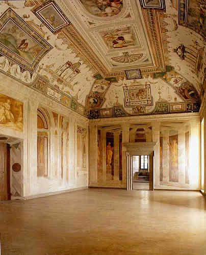 Farnese 39 s principle castle at caprarola viterbo for Saloni interni