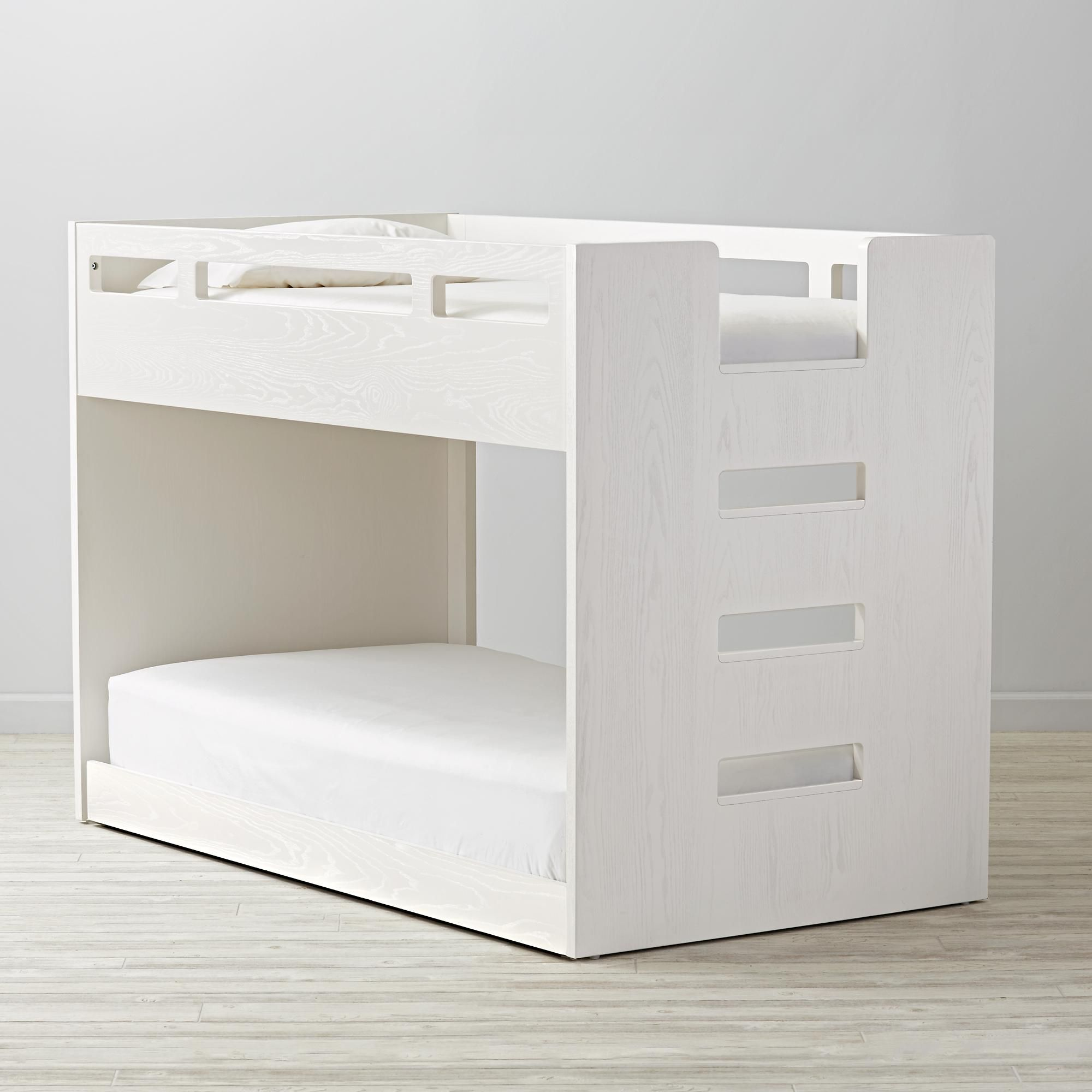 Low loft bed with desk and dresser  Abridged Bunk Bed  The Land of Nod  Bed for Giovanni  Pinterest