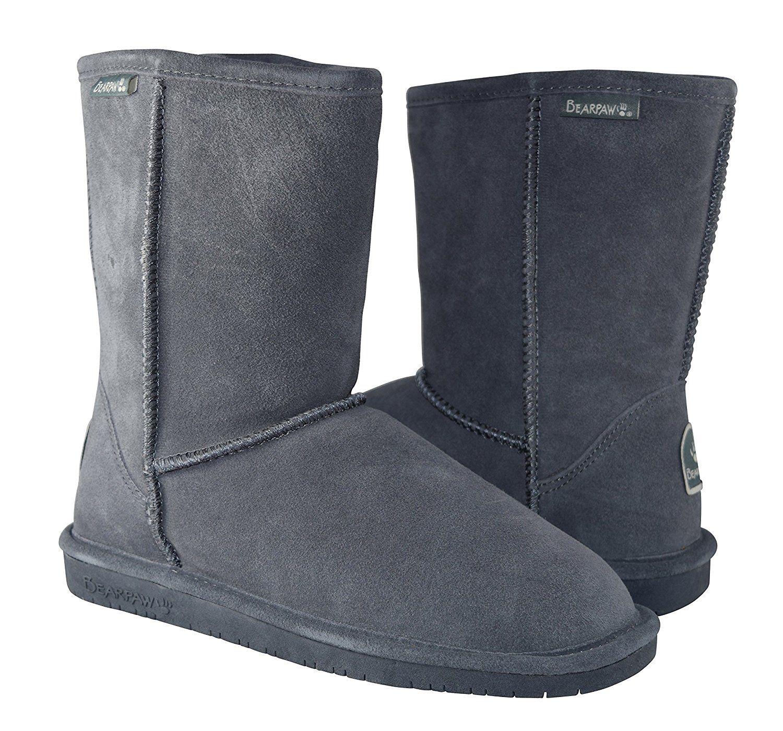 Women's Emma Short Shearling Boots 608-W Charcoal