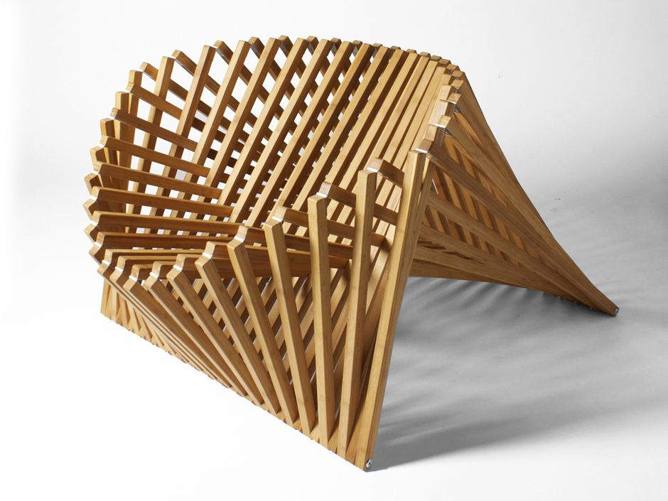 Folding bamboo easy chair RISING - @cfocparis Sillas Pinterest