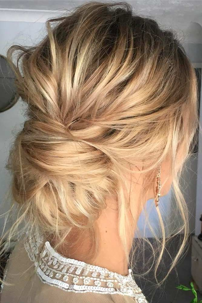 Trendy Updo Hairstyles For Medium Length Hair See More Http Lovehairstyles Com Updo Hairstyles Fo Thin Hair Updo Hair Styles Easy Wedding Guest Hairstyles