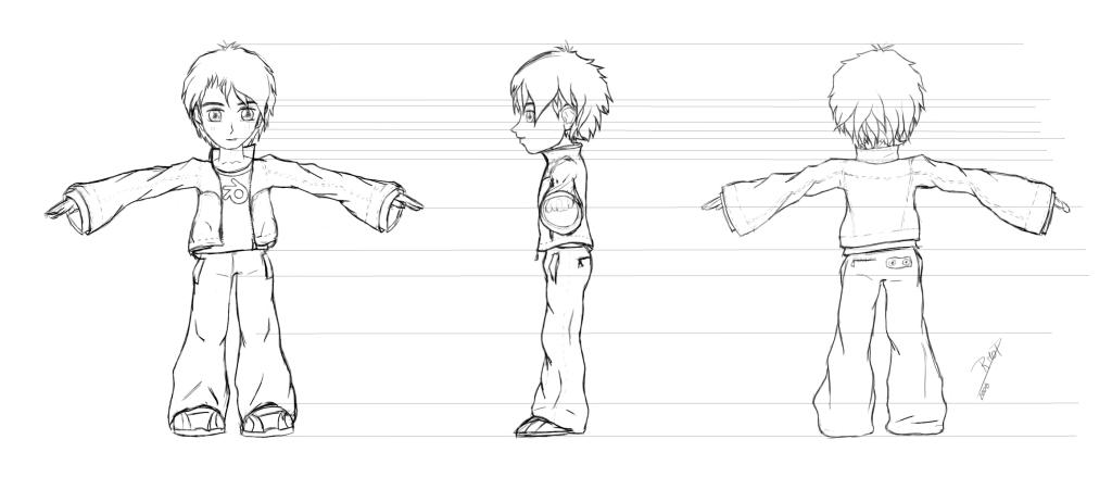Character Design In Blender : D  blender character design sketch to