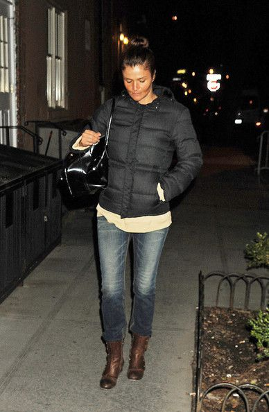 5921430b28b Helena Christensen Photos - Supermodel Helena Christensen takes a  late-night stroll near her home