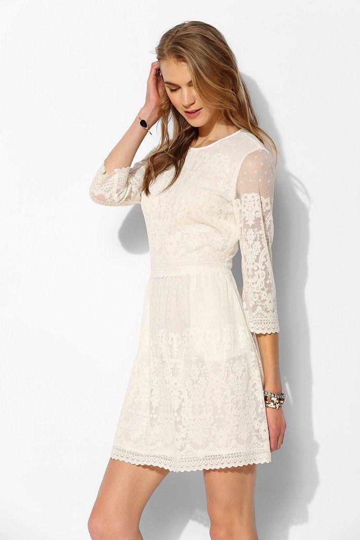 Dv by dolce vita val sleeve lace shift dress winter wedding