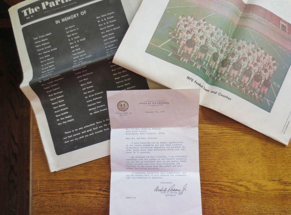 Official Letter Fm ARCH MOORE Jr WV