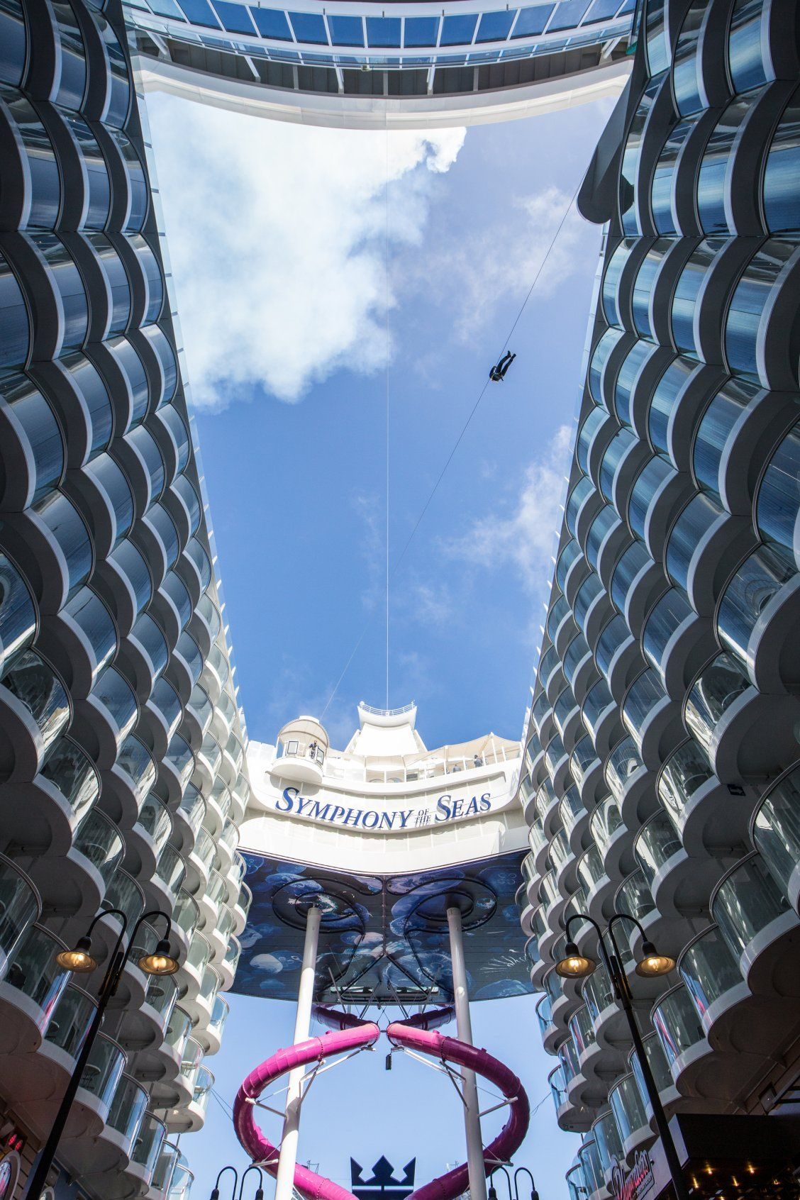 Symphony of the Seas   Let the sun in. And the adventure. Experience a whole new level of thrills and onboard experiences including the Ultimate Family Suite for a family vacation that is certain to have no parallel.