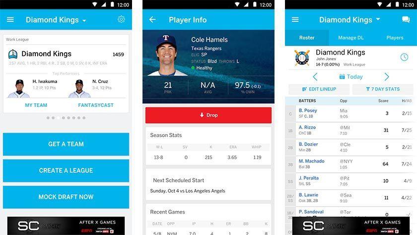 ESPN fantasy baseball best baseball apps for android