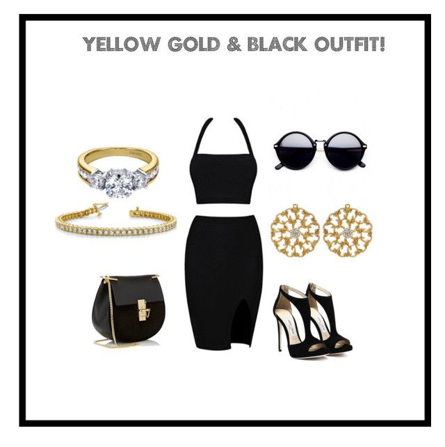 """Yellow Gold & Black Outfit!"" by idjewerly on Polyvore featuring Chloé"