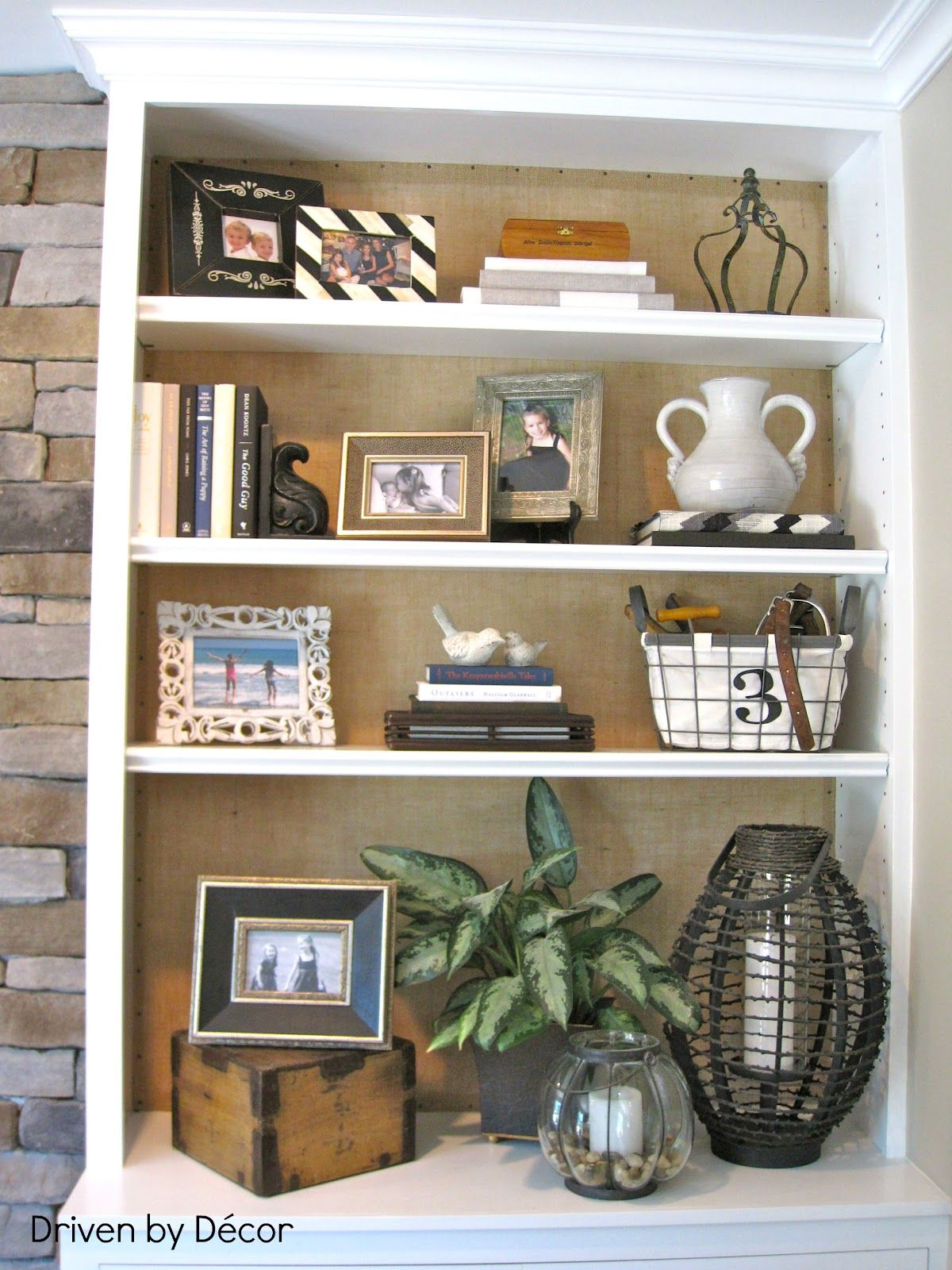diy project burlap backed bookcases home sweet home pinterest rh pinterest com