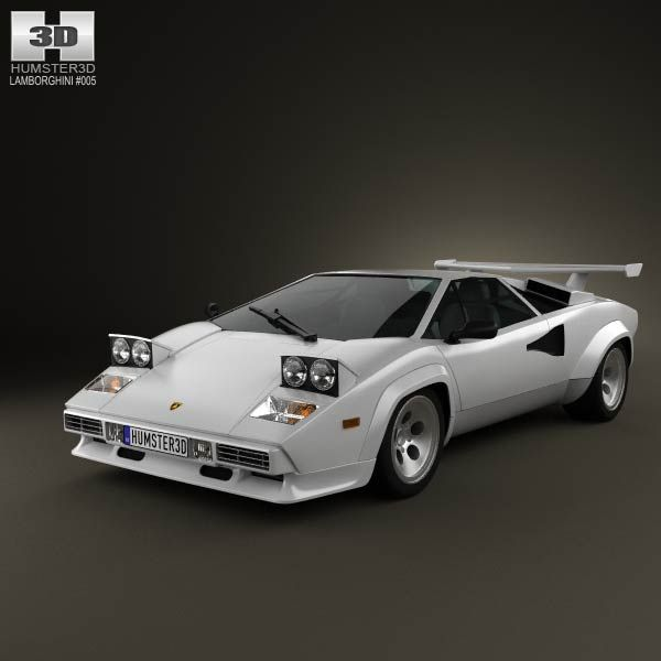 Used Toyota Under 5000: Lamborghini Countach 5000 QV 1985 3d Model From Humster3d