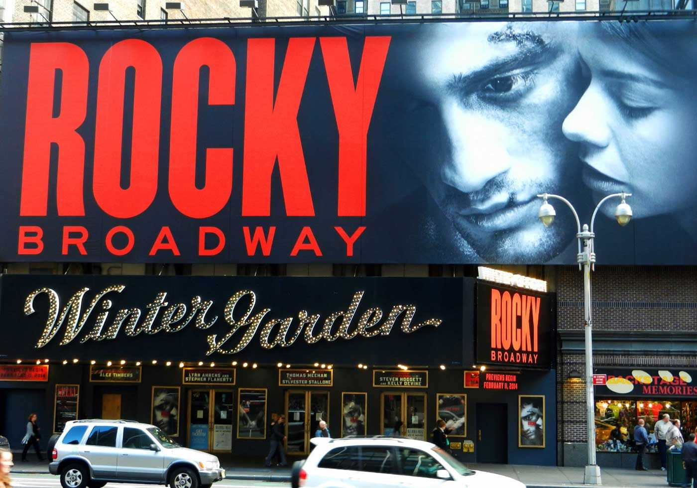 Rocky On Broadway Really I Loved The Movie Back In The Day Rocky As A Musical Hum Have To Wait And See The Review Winter Garden Theatre Broadway Music Book