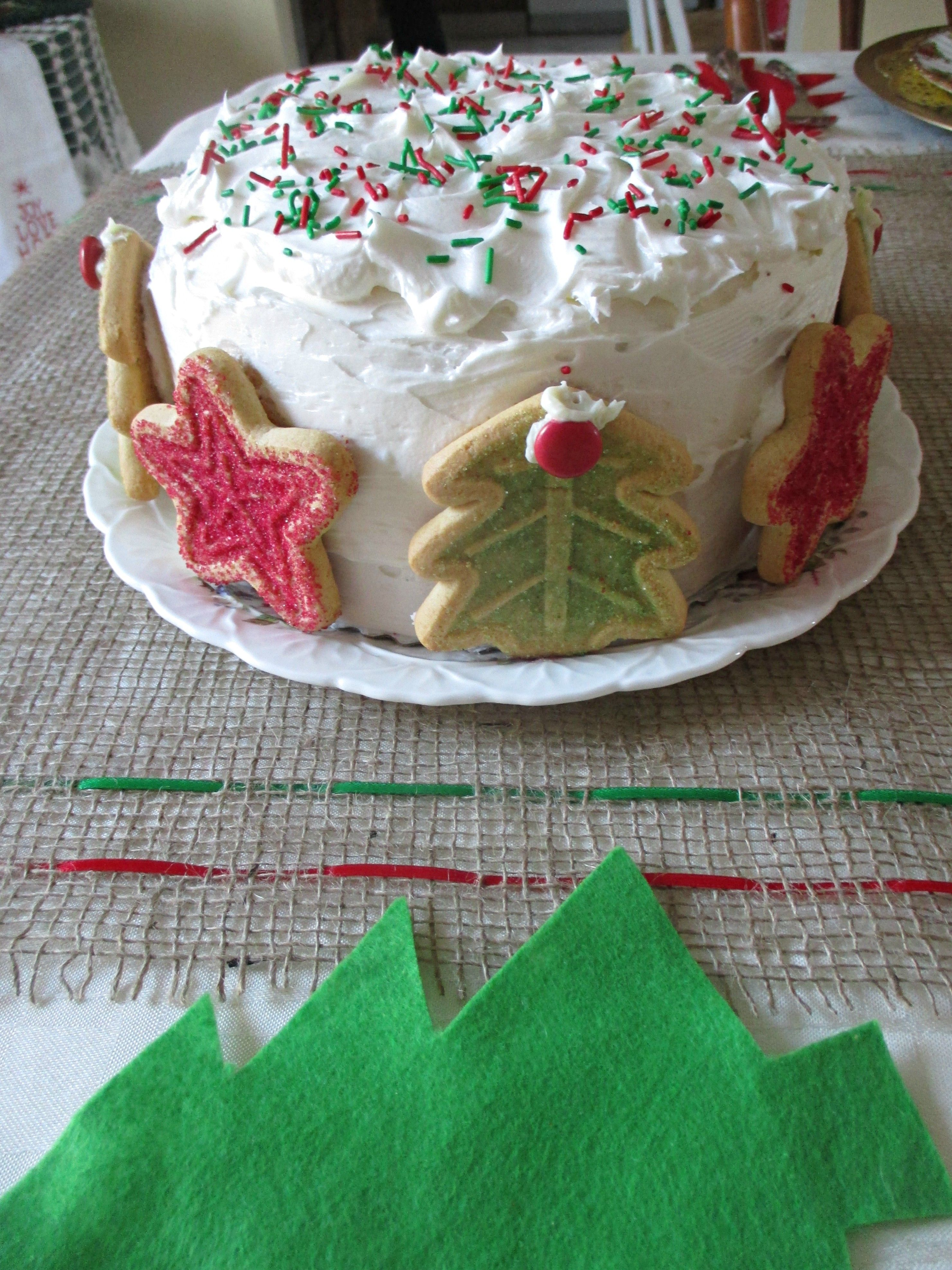 December Birthday Cake December Birthday Cake Cake Decorating