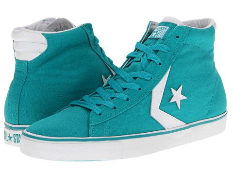 Converse Pro Leather Vulc Mid - Canvas Blithe/White - Zappos.com Free  Shipping