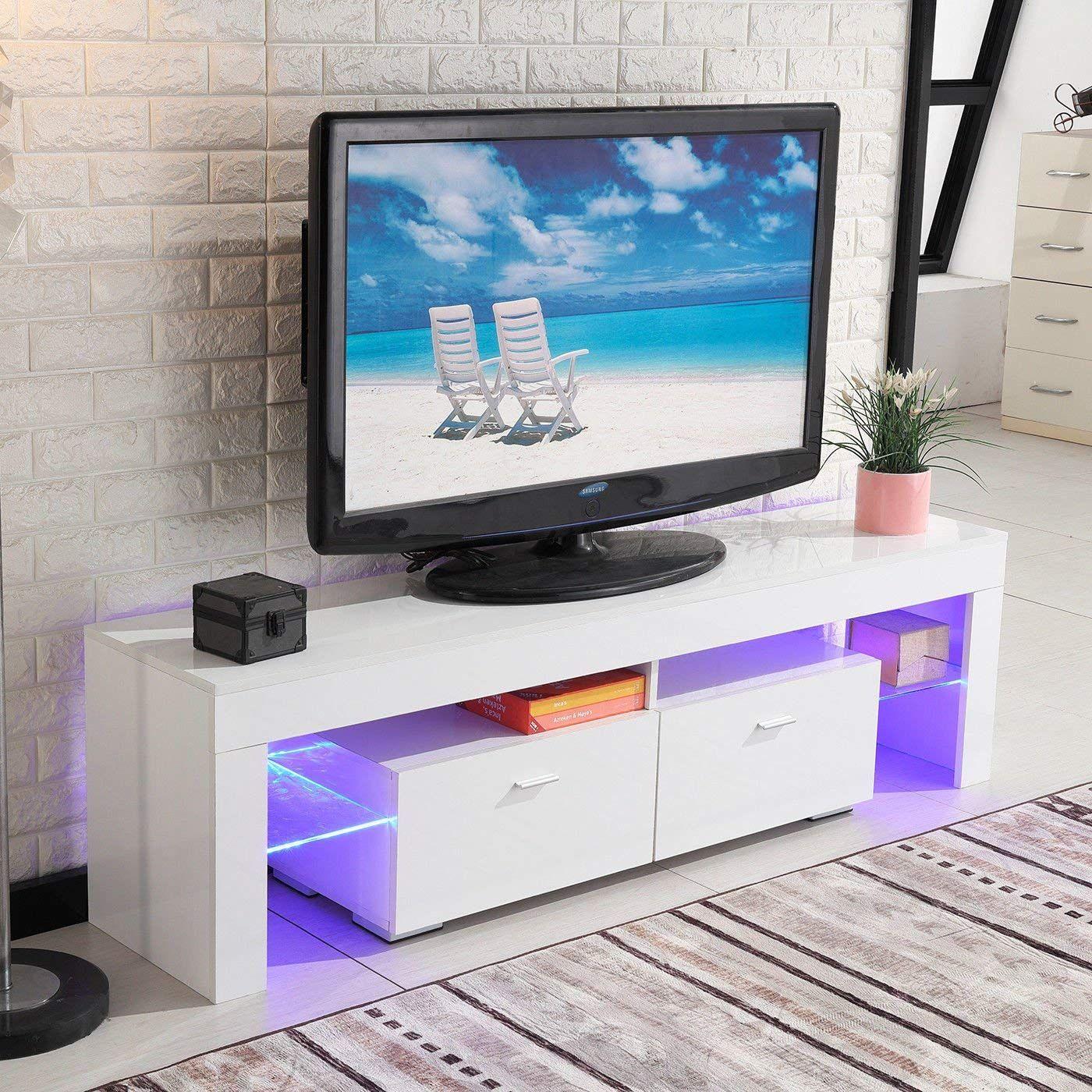 amazon com best direct deals tv stand high gloss white cabinet rh pinterest com