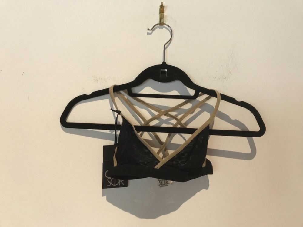 6e6248f29e NWT CHASER BRALETTE BLACK WITH BEIGE STRAPS SIZE S LOT 146  fashion   clothing  shoes  accessories  womensclothing  intimatessleep (ebay link)