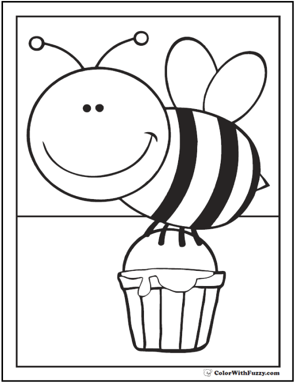 Honey Bee Coloring Pages Class Room Bee Coloring Pages