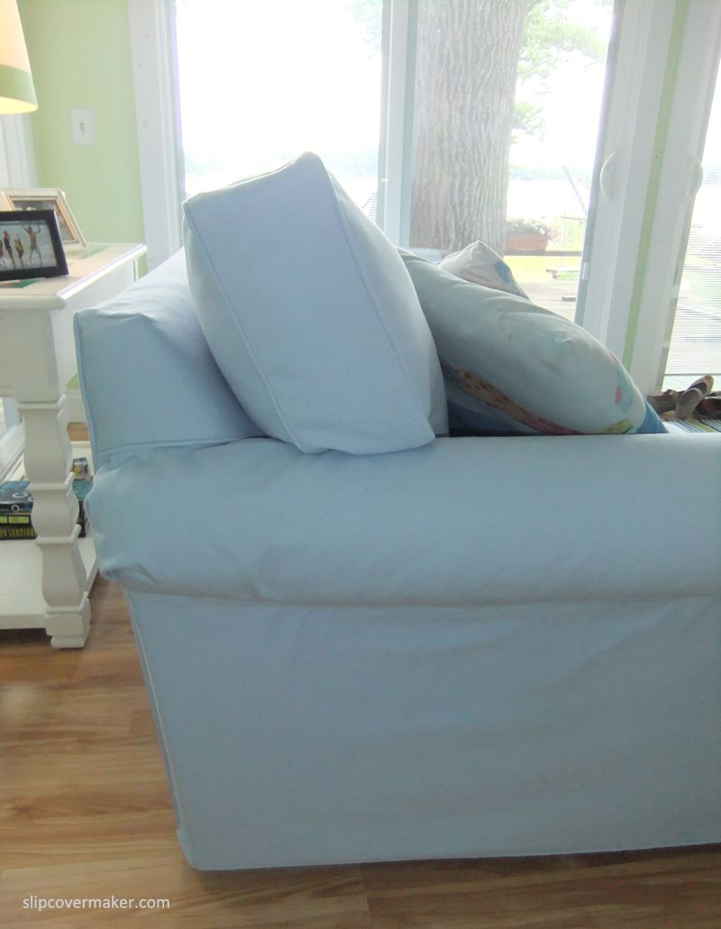 cottage style sofa slipcover with hidden velcro to hold underarm in rh pinterest com