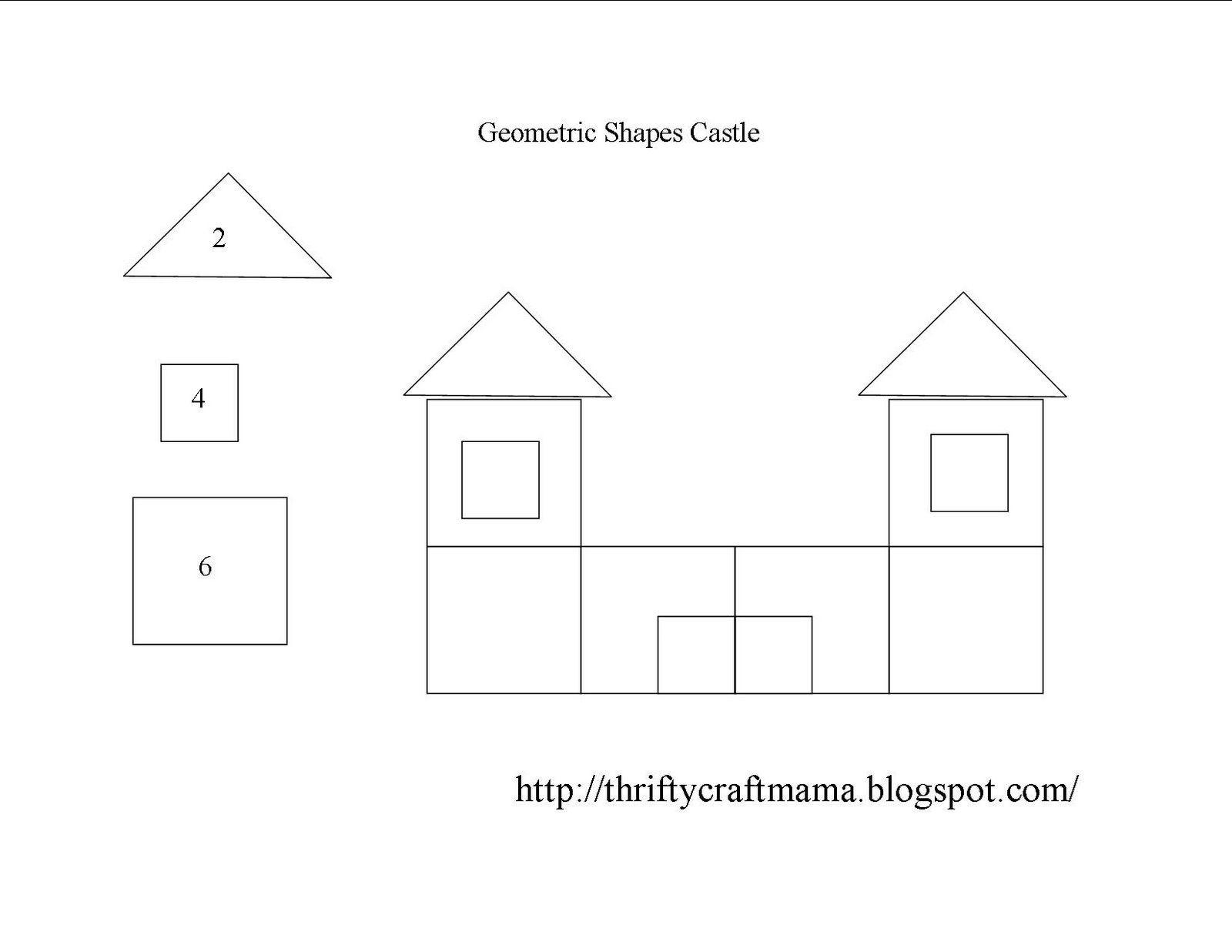 Geometric Shapes Castle